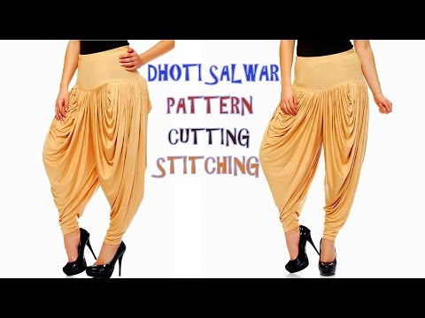 Dhoti salwar drafting, cutting and stitching step by step tutorial