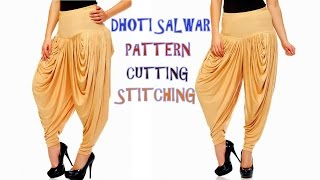 Dhoti salwar drafting, cutting and stitc...