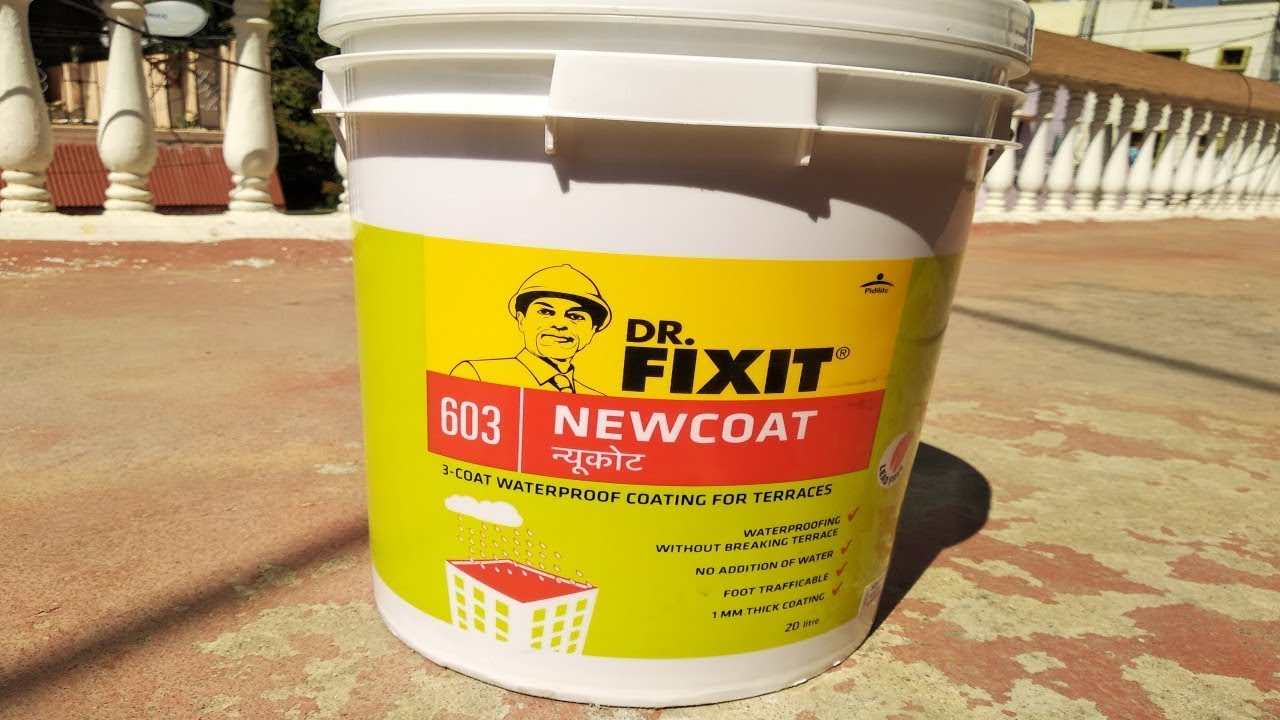 Dr Fixit Waterproofing Dr Fixit Newcoat Roof Waterproofing Dr Fixit Terrace Waterproofing Youtube