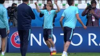 Croatia training at Stade Geoffroy Guichard - 16.06