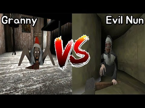 Granny vs Evil Nun || Jumpscare Battle || Horror Game - 그래니 vs 미친수녀 죽는장면 배틀