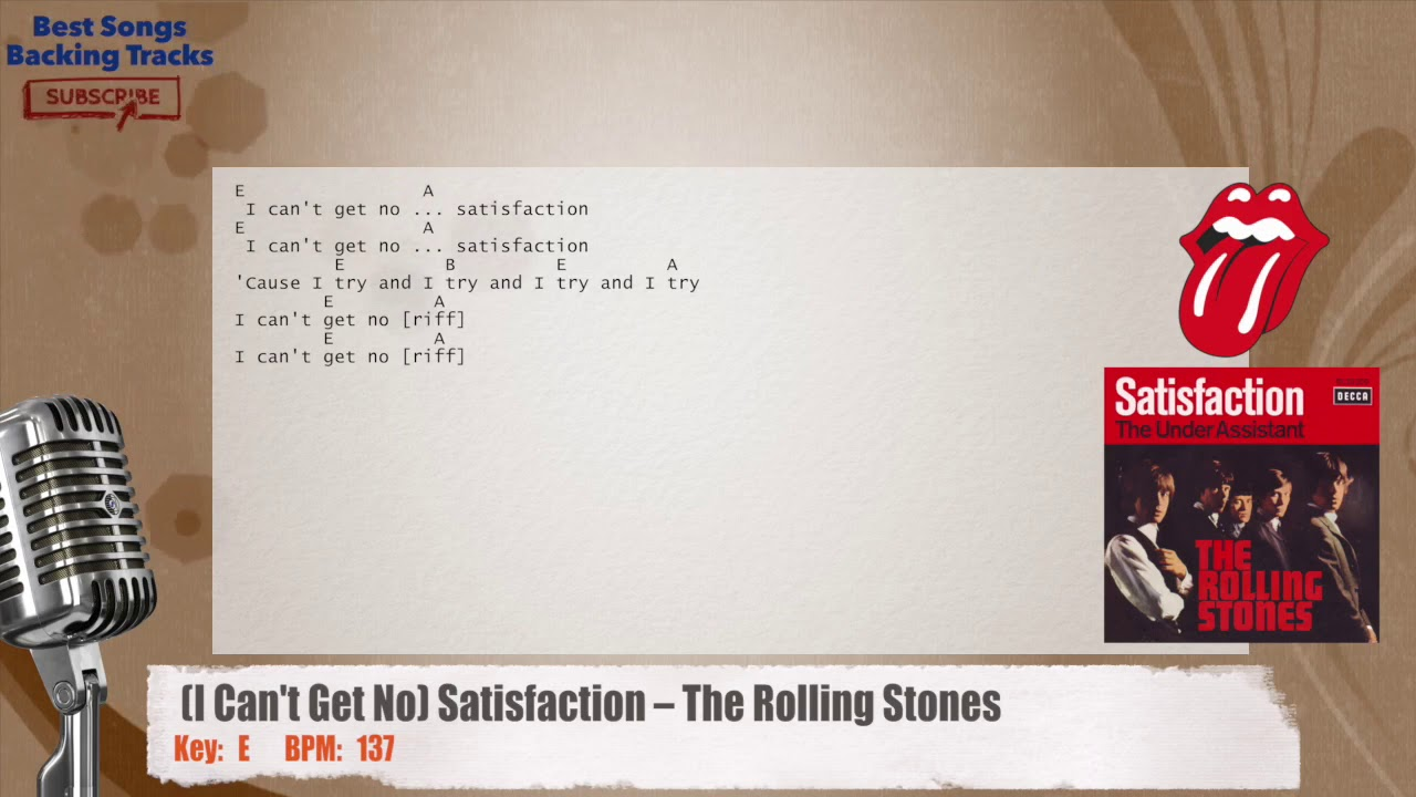 I cant get no satisfaction the rolling stones vocal backing i cant get no satisfaction the rolling stones vocal backing track with chords and lyrics hexwebz Choice Image
