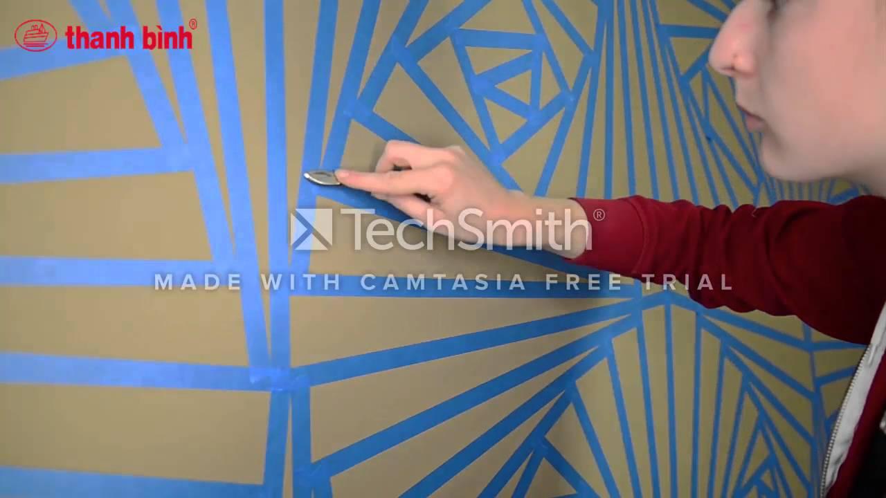 Cách sơn hoa văn trên tường | CỌ SƠN THANH BÌNH