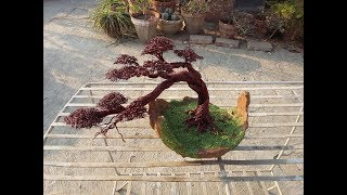 Wie man Kupfer-Draht-Baum mit Bonsai-Topf (Teil 1)