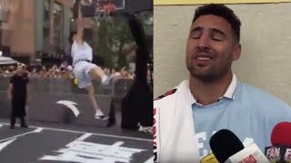 Klay Thompson Tries to Defend His China Dunk FAIL