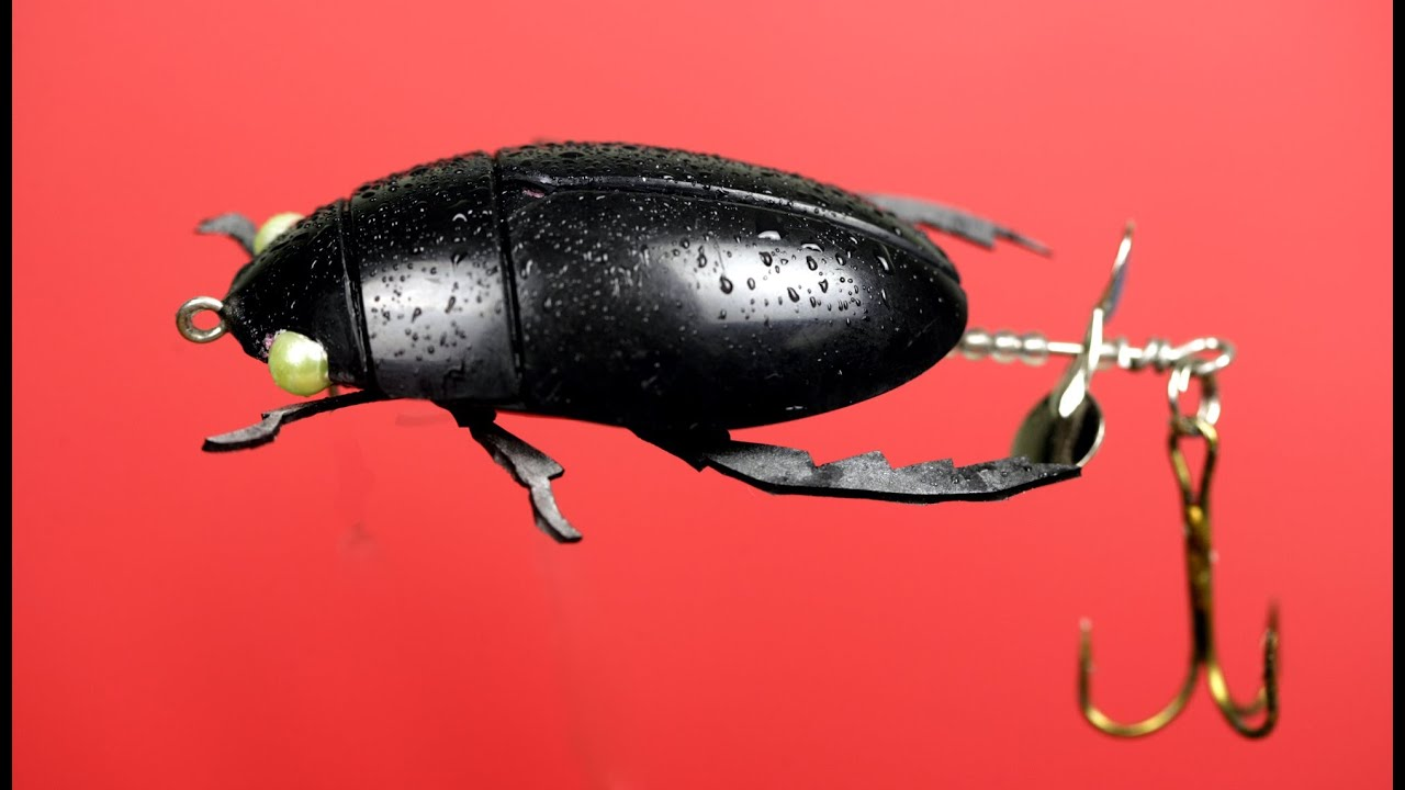 Making A Beetle Fishing Lure From Plastic Spoons