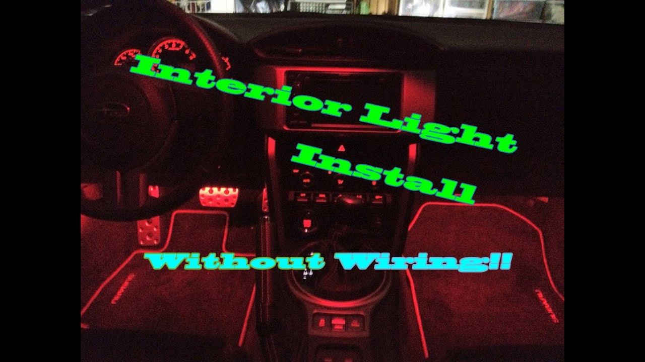 Good Car Interior LED Light Install Without Wiring To Car!!   YouTube Photo