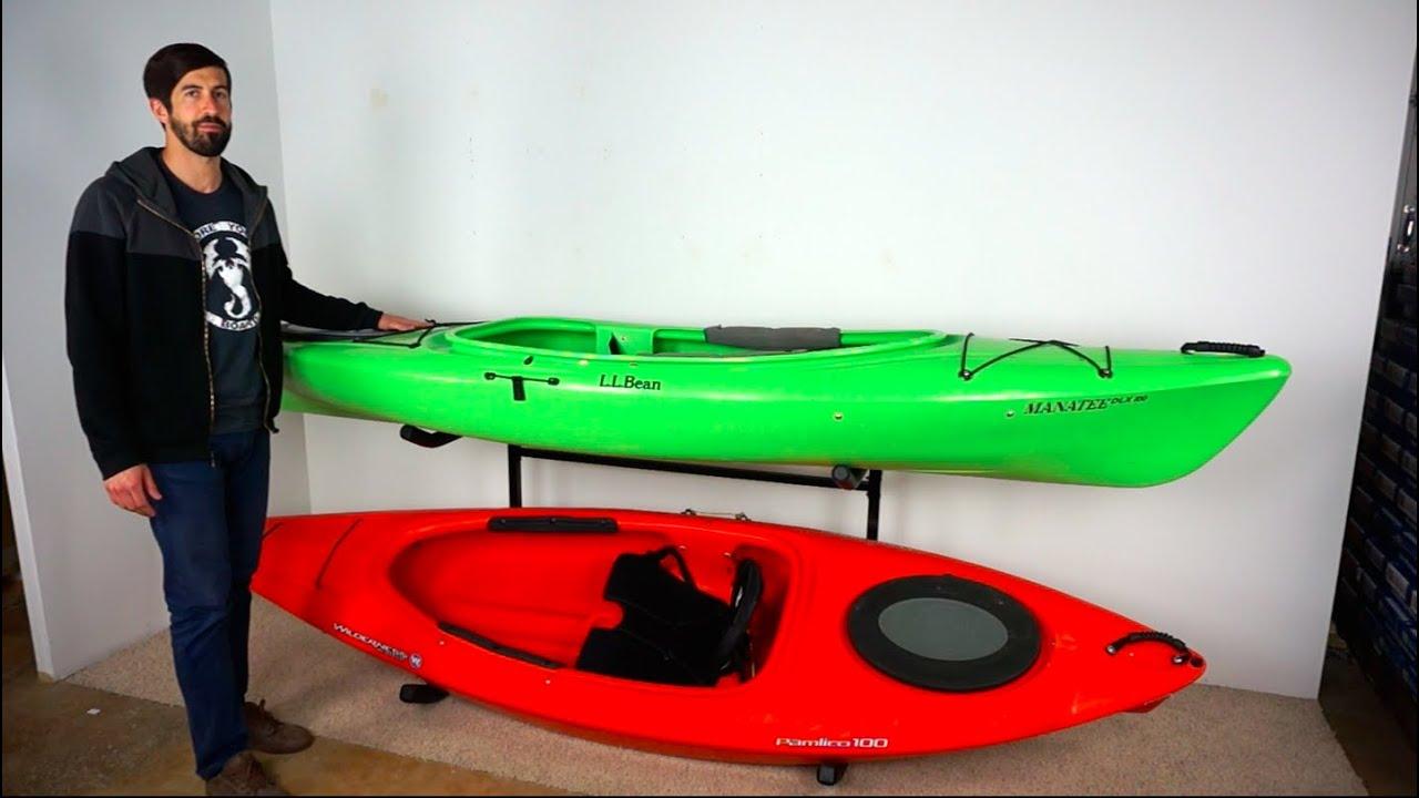 Indoor U0026 Outdoor Freestanding Kayak Rack