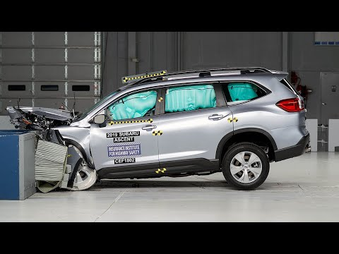 2019 Subaru Ascent Moderate Overlap IIHS Crash Test