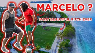 PLAYING MARCELO 🤣IN THE BEST PITCH EVER ⚽! Séan garnier in Maldives