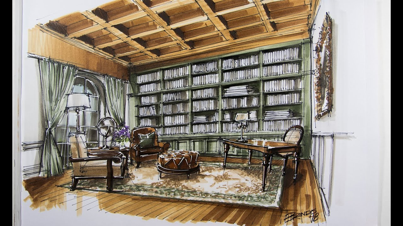 Interior design sketching library youtube for Interior design