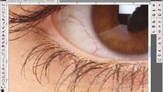 Рисуем ресницы.flv(Видео урок Photoshop CS5. Увеличиваем длину и густоту ресниц с помщъю инструмента