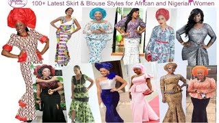 Unique Skirt and Blouse Styles for Women (African / Nigerian Occasion Fashion)