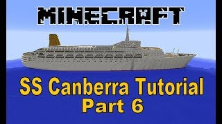 """Part 6 of my video tutorial on how to build the P&O liner SS Canberra"""" in Minecraft. Part 6 sees the construction of the superstructure supporting the ships ..."""