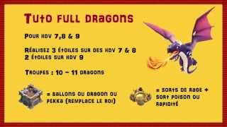 Guide attaque full dragons Clash of Clans - Rayven des clans Papys Warriors