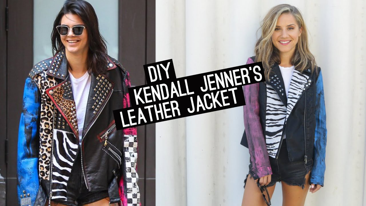 Leather jacket diy - Diy Kendall Jenner S Leather Jacket Stylewire