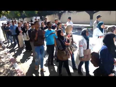 Revolution infirmier ( étudiants et diplômés du IFCS de rabat demandent leurs droit en L.M.D )