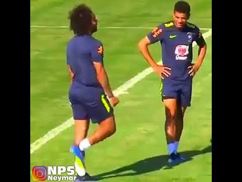 Neymar and Marcelo Trying To Do Fortnite Dances In Training Today 😂👌