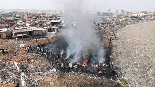 Drone Footage Of The E-Waste Mega Dump of Agbogbloshie, Accra - Ghana - Rough Edit