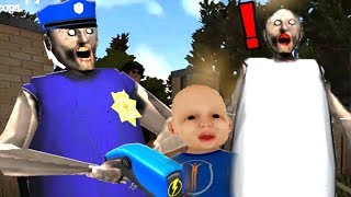 GRANNY SE COMIÓ AL NIÑO Y LA POLICÍA LA ATRAPA !! OMG - Granny Simulator   DeGoBooM