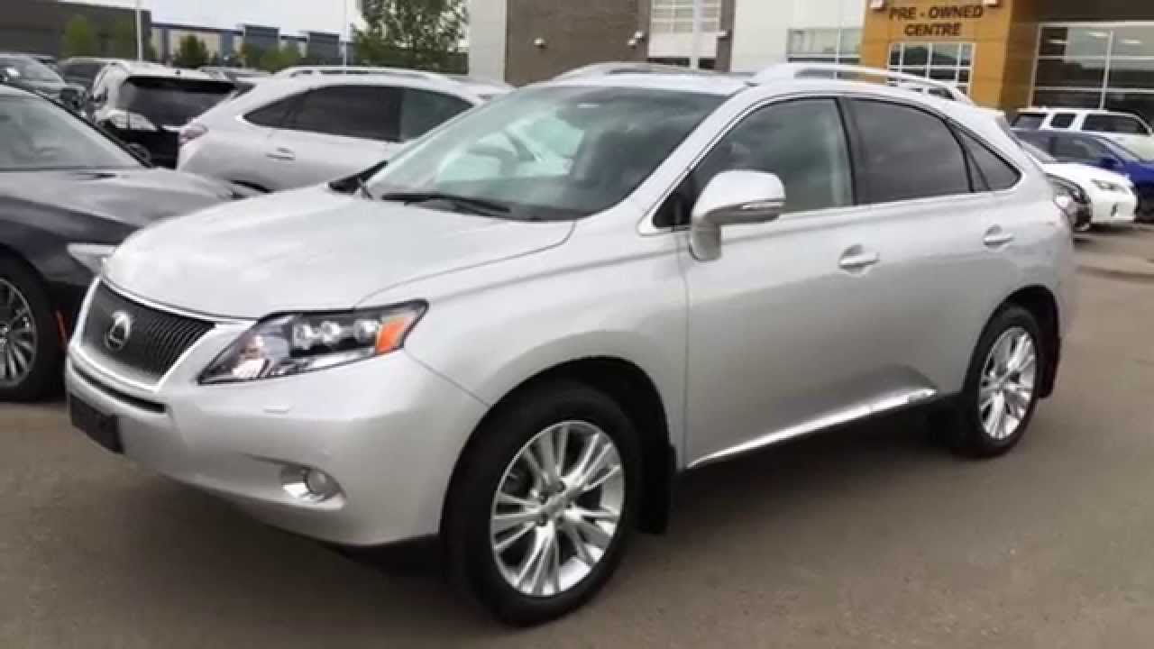 Pre Owned Silver 2012 Lexus Rx 450h Hybrid Awd Ultra