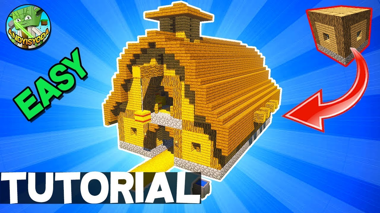 How to Build a Barn in Minecraft (EASY 5X5 BUILDING SYSTEM ...