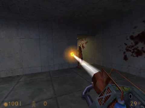 crossfire (Half-Life map) Gauss Gun skills (2002)