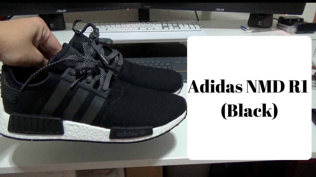 b495e535ee45c Adidas NMD R1 Unboxing (Black) - YouTube