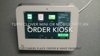 Using clover mini or mobile as an order kiosk. customers enter their own orders, make payment with credit debit card and the is fired to any ...
