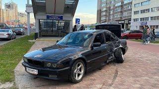 16 Мая В Минске БМВ вылетел на тротуар.