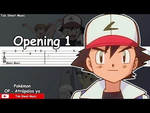 Pokémon OP 1 - Gotta Catch 'Em All (Atrápalos ya) Guitar Tutorial