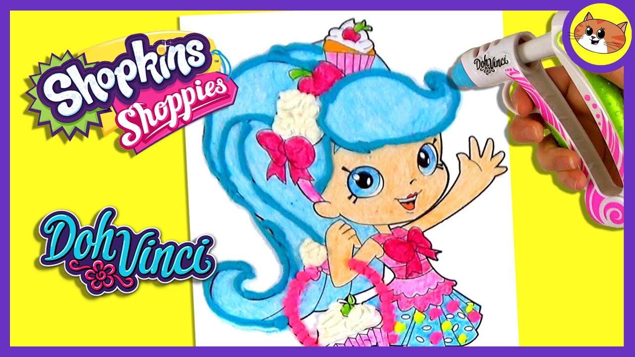 Shopkins shoppies dolls coloring page - Dohvinci Shopkins Jessicake Shoppies Coloring