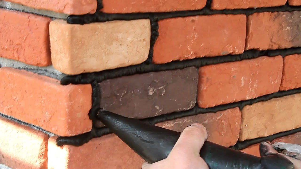 Navilla Face Brick Installation Grouting Step 1 Youtube