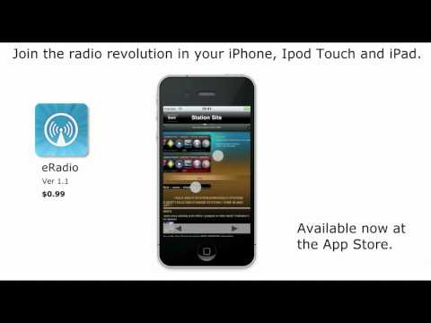 eRadio multi-station radio tuner for iPhone, iPod Touch and iPad