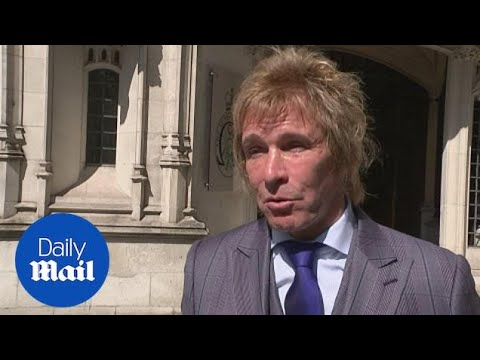 Pimlico Plumbers CEO Charlie Mullins speaks outside Supreme Court