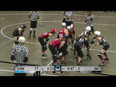 Canada vs Denmark Roller Derby World Cup 2014