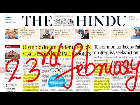 The Hindu Newspaper 23rd February 2019