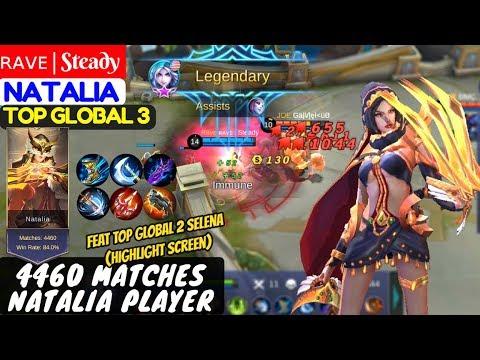 4460 Matches Natalia Player [Top Global 3 Natalia]  ʀᴀᴠᴇ   Steady Natalia Gameplay And Build