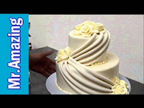 Small Wedding Cake Decorating Tutorial 2017 Youtube