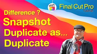 Duplicate and snapshot projects in  🎬 Final Cut Pro x 10.4.9  - training Final Cut
