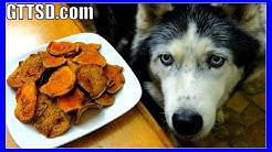 DIY SWEET POTATO DOG TREATS   Snow Dogs Snacks 39   Gluten Free Dog Treats