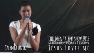 Children Talent Show 2016 (Jesus Loves Me) part 1