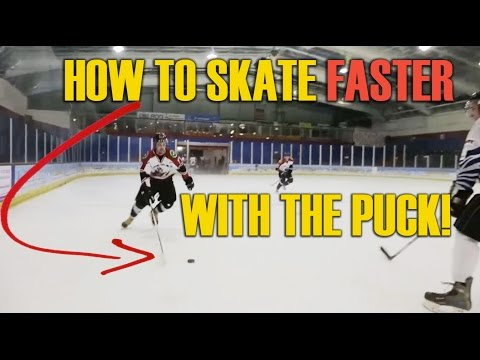 How To Skate Faster With The Puck - Skating On A Breakaway