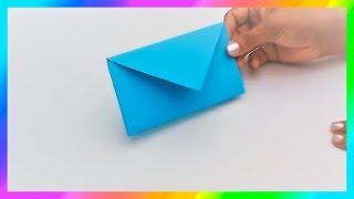 Cómo hacer SOBRES de papel sin pegamento★ Origami★Sobres para cartas   PapelyManualidades