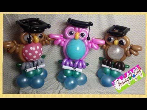 Como hacer un b ho graduado con globos especial de - Como hacer figuras con globos ...