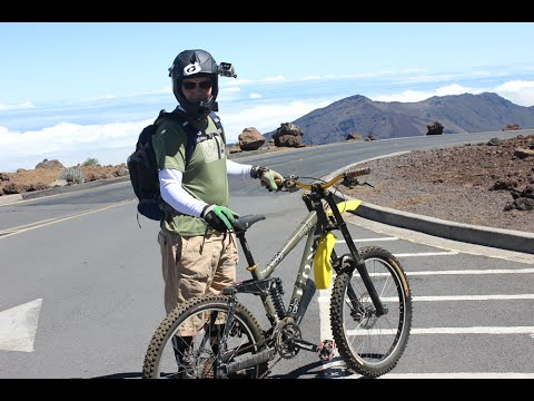 Haleakala Maui - Skyline Downhill - Mt Biking GoPro