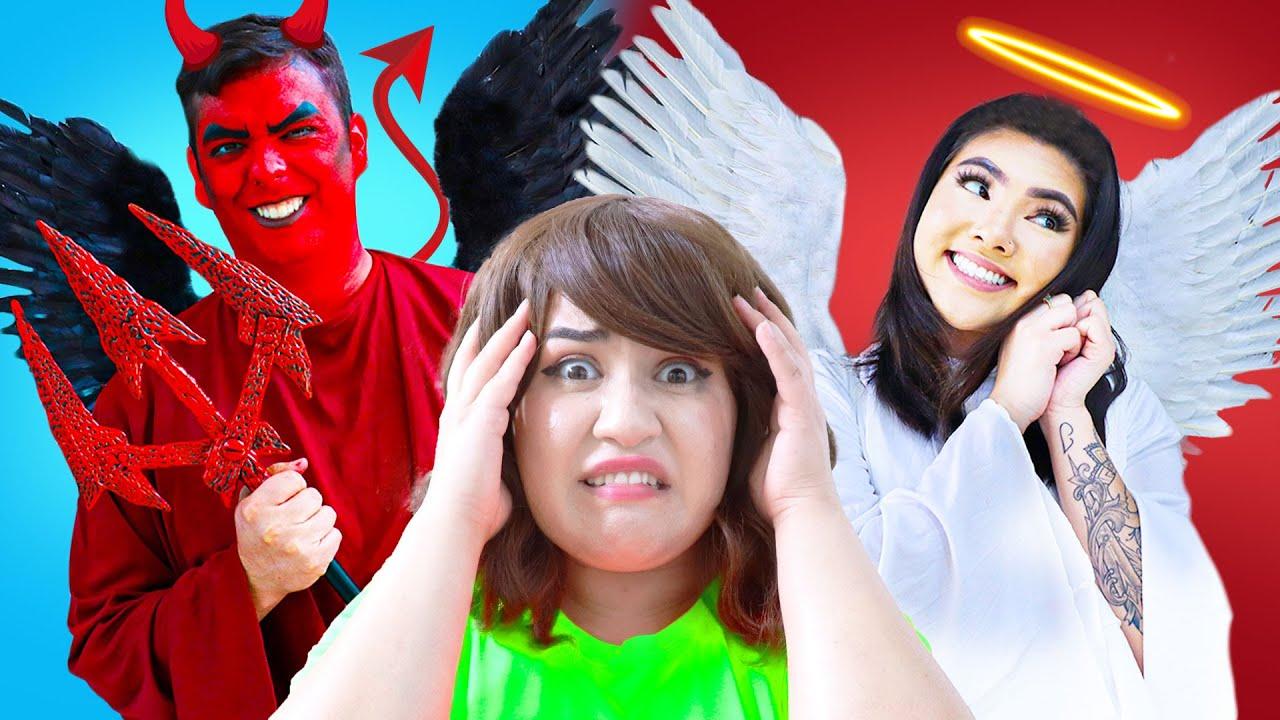 OMG! ANGEL VS DEMON CONTROL ME | FUNNY INSIDE OUT GOOD & EVIL RULE BY CRAFTY HACKS