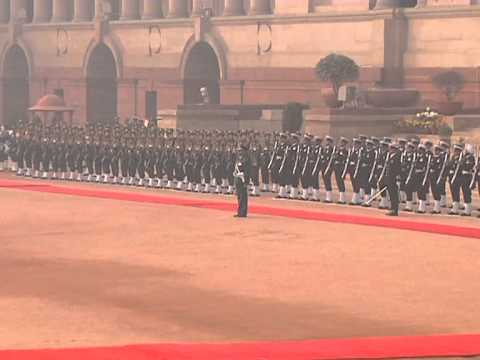 Ceremonial Reception of President of the Republic of Mauritius - 04-01-2013