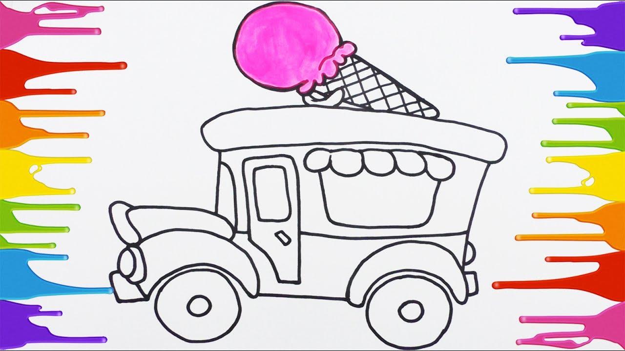 Dibuja Y Colorea Un Carro De Helado Arte Y Color Para Niños Con Temperas Learn Colors Funkeep