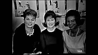 THE McGUIRE SISTERS interview on Person to Person, 1960
